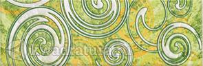 Бордюр для настенной плитки Azori Фьюжн Минт Рондо 27,8*9 см