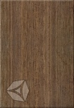 Настенная плитка Azori Оригами Мокка 27,8*40,5 см