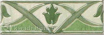 Бордюр для настенной плитки Березакерамика Елена зеленая 20*7 см