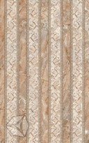 Декор  для настенной плитки Нефрит-Керамика Гермес коричн. (полосы) 40*25 см