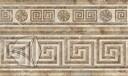 Бордюр  для настенной плитки Нефрит-Керамика Гермес коричн. 25*15 см