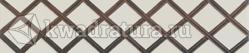 Бордюр для настенной плитки УралКерамика Бамбук на белом коричневый 24,9*5 см