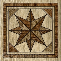 Декор для настенной плитки InterCerama MASSIMA коричневый 13,7*13,7 см