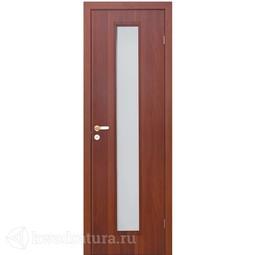 Финская дверь OLOVI Итальянский/Миланский орех без притвора с фурнитурой со стеклом