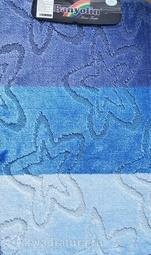 Коврик для ванной комнаты SILVER одинарный голубой 60*100 см (00212)