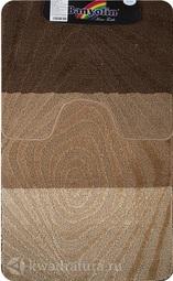 Коврик для ванной комнаты SILVER двойной коричневый 60*100 + 50*60 см 202020 (00231)