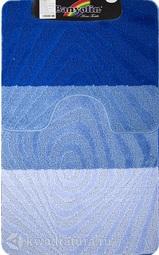 Коврик для ванной комнаты SILVER двойной синий 60*100 + 50*60 см (00232)