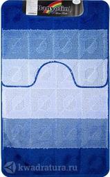 Коврик для ванной комнаты SILVER двойной синий 60*100 + 50*60 см (00242)