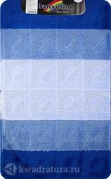 Коврик для ванной комнаты SILVER одинарный синий 60*100 см (00246)