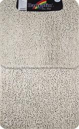 Коврик для ванной комнаты Moss 102 двойной белый 60*100 + 50*60 см (00401)