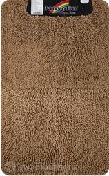 Коврик для ванной комнаты Moss 101 двойной коричневый 60*100 + 50*60 см (00403)