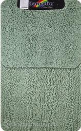 Коврик для ванной комнаты Moss 117 двойной зелёный 60*100 + 50*60 см (00404)