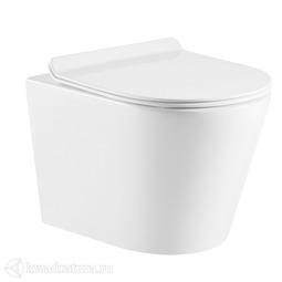 Унитаз подвесной Calypso CS53EP, сиденье Slim дюропласт, микролифт, 515*355*365, белый