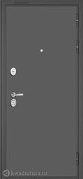 Дверь входная металлическая Бульдорс Standart 90 D-2 Букле графит / Белый софт