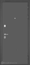 Дверь входная металлическая Бульдорс Mass 90 136 Букле графит / Ларче бьянко