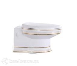 Унитаз подвесной CeramaLux 4288, микролифт, 530*370*370, белый