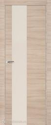 Дверь ProfilDoors 5Z Капучино кроскут перламутровый лак матовая хромка под скрытую систему Invisible