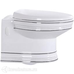 Унитаз подвесной CeramaLux 1412, микролифт, 530*370*370, белый