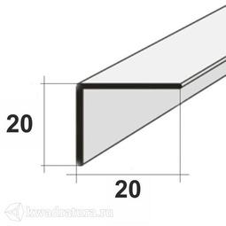 Уголок для панелей ПВХ  Белый 2,7м 20*20 мм