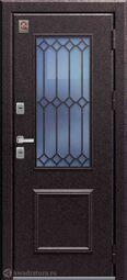Дверь входная металлическая Центурион Т-1 PREMIUM Медный муар/Дуб полярный