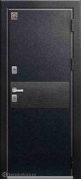 Дверь входная металлическая Центурион Т-2 PREMIUM Черный муар+черный скол дуба/арктик