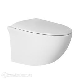 Унитаз подвесной Calypso CS207EP, сиденье Slim, микролифт, 520*370*360, белый
