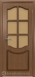 Межкомнатная дверь ВФД Классика Орех со стеклом