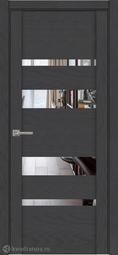 Межкомнатная дверь Дверной вопрос UniLife ПДО 30013з Софт Антрацит (Зеркало)