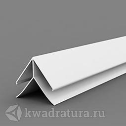 Угол наружный для панелей ПВХ белый 3 м