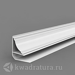 Плинтус потолочный для панелей ПВХ белый 3 м