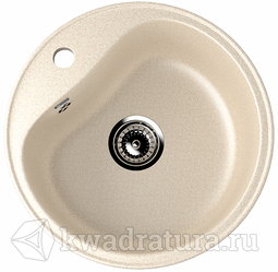 Кухонная мойка ULGRAN U-100 бежевый №328 49 см