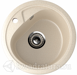 Кухонная мойка ULGRAN U-500 бежевый №328 44 см