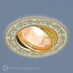 Встраиваемый точечный светильник Elektrostandard 713 белый/золото