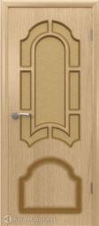 Межкомнатная дверь ВФД Кристалл Светлый дуб, стекло
