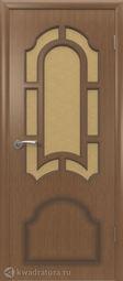 Межкомнатная дверь ВФД Кристалл Орех, стекло
