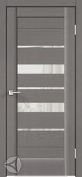 Межкомнатная дверь Velldoris (Веллдорис) PREMIER 23 Ясень грей структурный, зеркало с двух сторон