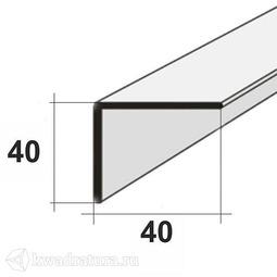 Уголок для панелей ПВХ  Белый 2,7м 40*40 мм