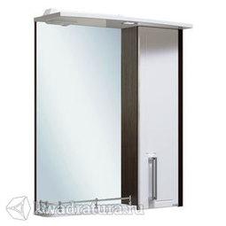 Шкаф зеркальный Руно Гранада 60 правый венге-белый