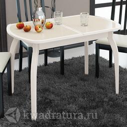 Обеденный стол раздвижной на деревянных ножках Ницца Т15 вариант 5 ТР