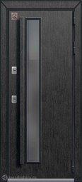 Дверь входная металлическая Центурион Т-5 PREMIUM Черный муар+черный скол дуба/миндаль