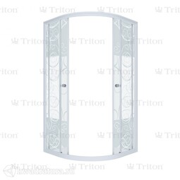 Душевая ширма Triton Стандарт узоры 100*100 см
