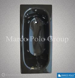 Чугунная ванна MARCO POLO 150*70 с ножками Черный