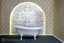 Каменная ванна Aqua de Marco Эдельвейс 170*82,7 белая с белыми ножками