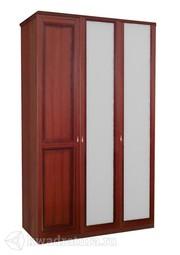 Шкаф трехстворчатый Валенсия с зеркалом ЛД