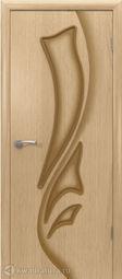 Межкомнатная дверь ВФД 5ДГ1 Лилия Светлый дуб