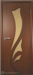 Межкомнатная дверь ВФД Лилия Макоре, стекло L/R