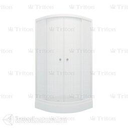 Душевое ограждение Triton Лён 90*90 А (с поддоном)