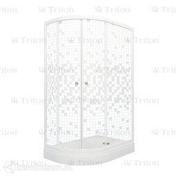 Душевое ограждение Triton Коралл 120*80 А Мозаика Правое (с поддоном)