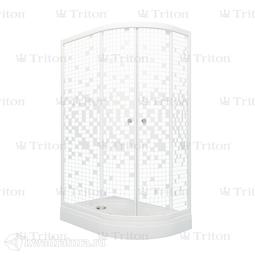 Душевое ограждение Triton Коралл 120*80 А Мозаика Левое (с поддоном)