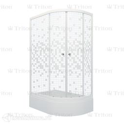 Душевое ограждение Triton Коралл 120*80 В Мозаика Левое (с поддоном)